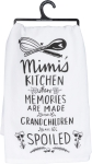 Mimi's Kitchen Where Memories Are Made Cotton Dish Towel Primitives by Kathy