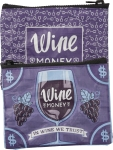 Wine Money Zipper Wallet Travel Pouch from Primitives by Kathy