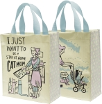 I Just Want To Be A Stay At Home Cat Mom Daily Tote Bag from Primitives by Kathy