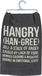 Hangry Cotton Dish Towel from Primitives by Kathy