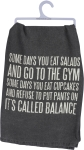 Salads Cupcakes & Gym Balance Cotton Dish Towel from Primitives by Kathy