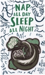 Sloth Design Nap All Day Sleep All Night Nylon Threaded Patch from Primitives by Kathy
