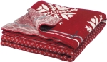 Nordic Design Big Snowflake Red & White Cotton Throw Blanket 50x60 from Primitives by Kathy