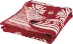 Snowflake Print Red & White Decorative Cotton Throw Blanket 50x60 from Primitives by Kathy