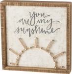 You Are My Sunshine String Art Decorative Inset Wooden Box Sign 10x10 from Primitives by Kathy