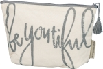 Be You Tiful Canvas Zipper Pouch Travel Bag by Artist Phil Chapman from Primitives by Kathy