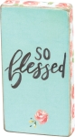 So Blessed Mini Decorative Magnetic Wooden Block Sign from Primitives by Kathy