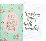 Set of 2 Wisdom Begins With Wonder & Grateful Heart Notebooks (40 Pages Each) from Primitives by Kathy