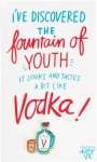 Vodka Fountain Of Youth Enamel Pin With Greeting Card from Primitives by Kathy
