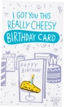 I Got You This Cheesy Birthday Card Enamel Pin from Primitives by Kathy