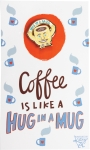Coffee Is Like A Hug In A Mug Enamel Pin With Greeting Card from Primitives by Kathy
