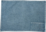 Stonewashed Blue Woven Knit Cotton Pocket Placemat 19x13 from Primitives by Kathy