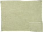 Stonewashed Green Woven Knit Cotton Pocket Placemat 19x13 from Primitives by Kathy