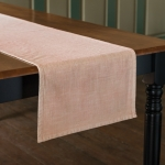 Stonewashed Blush Pink Woven Knit Cotton Table Runner Cloth 56x15 from Primitives by Kathy