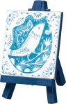 Watercolor Blue & White Decorative Bird Wooden Mini Easel Sign from Primitives by Kathy