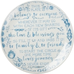 Fill It Up And Pass It On Decorative Stoneware Blessing Plate 12 Inch from Primitives by Kathy