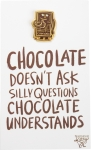 Chocolate Doesn't Ask Questions Enamel Pin With Greeting Card from Primitives by Kathy