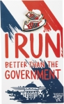 I Run Better Than The Government Enamel Pin With Greeting Card from Primitives by Kathy