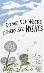 Some See Weeds Others See Wishes Dandelion Enamel Pin With Greeting Card from Primitives by Kathy