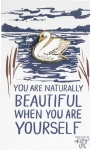 You Are Naturally Beautiful Swan Enamel Pin With Greeting Card from Primitives by Kathy