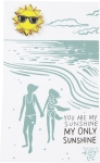 You Are My Sunshine Enamel Pin With Greeting Card from Primitives by Kathy