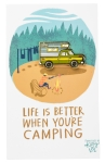 Life Is Better When Camping Enamel Pin With Greeting Card from Primitives by Kathy