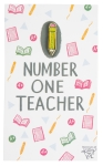 Number One Teacher Hard Enamel Pin from Primitives by Kathy