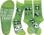Mama Panda Bear (If You Read This Go Ask Dad) Colorfully Printed Socks from Primitives by Kathy