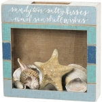 Sandy Toes & Seashell Wishes Decorative Seashell Holder Keepsake Box from Primitives by Kathy