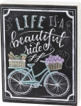 Life Is A Beautiful Ride Decorative Chalk Art Wooden Box Sign from Primitives by Kathy