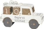 Wedding Truck Days 'Til Hitched Wooden Block Countdown Sign 9 Inch from Primitives by Kathy