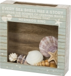 Every Sea Shell Has A Story Seashell Holder Keepsake Box 10x10 from Primitives by Kathy