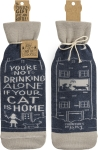 You're Not Drinking Alone If Your Cat Is Home Wine Bottle Sock Holder from Primitives by Kathy