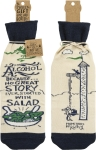 Alcohol-Because No Good Story Started With A Salad Wine Bottle Sock Holder from Primitives by Kathy