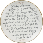 For My Children Door The Will Forever Be Open Decorative Ceramic Giving Plate 12 Inch from Primitives by Kathy