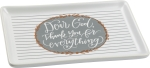 Dear God Thank You For Everything Decorative Trinket Tray from Primitives by Kathy