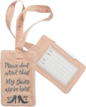 Please Don't Steal This My Shoes Are In Here Velvet Luggage Tag from Primitives by Kathy