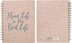 Mom Life Is The Best Life Spiral Notebook (120 Lined Pages) from Primitives by Kathy