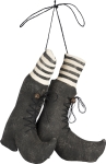 Canvas Filled Hanging Witches' Boots from Primitives by Kathy