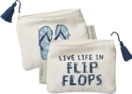 Live Life In Flip Flops Zipper Wallet Travel Pouch from Primitives by Kathy