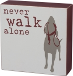 Dog Lover Never Walk Alone Decorative Wooden Box Sign 5x5 from Primitives by Kathy