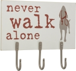 Dog Lover Never Walk Alone Leash Hook Rack from Primitives by Kathy