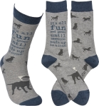 It's All Fun & Games 'Til Someone End Up In A Cone Colofully Printed Cotton Sock from Primitives by Kathy