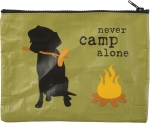 Dog Love Never Camp Alone Zipper Pouch Travel Bag from Primitives by Kathy