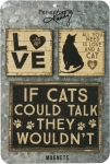 Set of 3 Cat Lover Refrigerator Magnets  from Primitives by Kathy