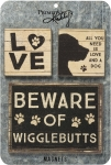 Dog Lover 3 Piece Magnet Set from Primitives by Kathy
