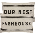 Farmhouse Our Nest Double Sided Pillow by Artist Dan DiPaolo from Primitives by Kathy