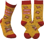 Exercise? I Thought You Said Extra Fries Colorfully Printed Cotton Socks from Primitives by Kathy