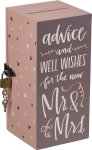 Well Wishes For The Mr. & Mrs. Newlywed Card Box from Primitives by Kathy