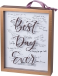 Best Day Ever Decorative Framed Glass Wooden Memory Box Sign 8x10 from Primitives by Kathy